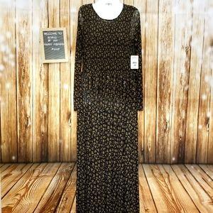 Brand New Free People Black Combo Maxi Dress